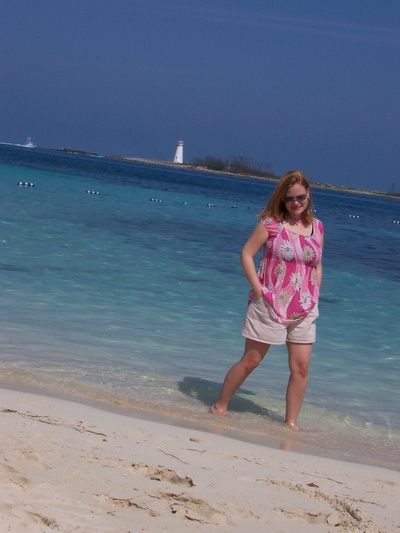 My beautiful wife in Nassau