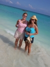 Becky and Jennifer in Playa Del Carmen, Mexico.