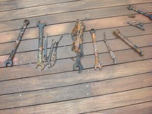 Tools recovered from shipwreck