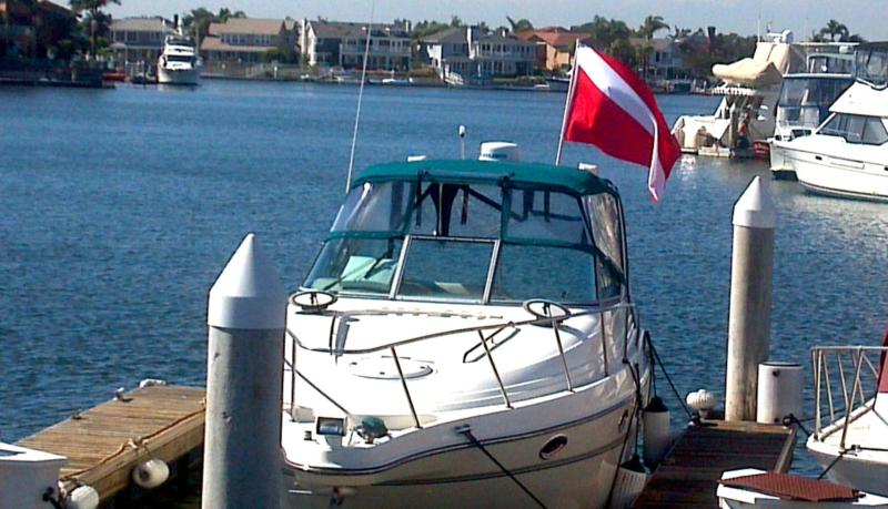 My boat in Huntington Harbor, CA
