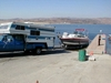 Truck, camper & boat at the lake, Next is BAJA!