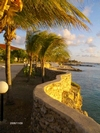 Sand Dollar sea wall, Bonaire