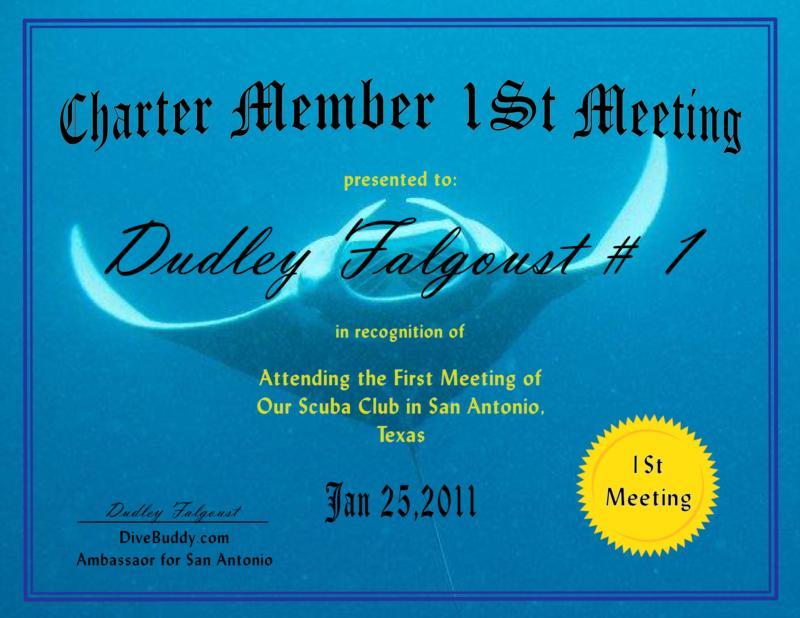 1st Meeting Charter Member