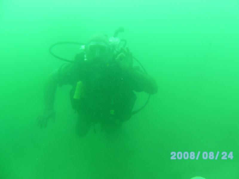 Aug 24th, Diver in Lake Pleasant, enjoying the dive