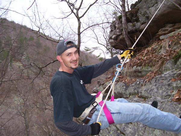 Picture of me rappelling in Va.