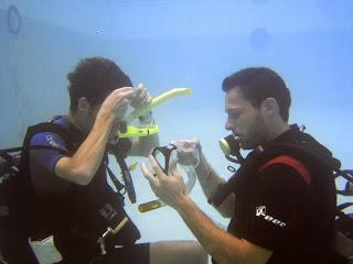 Inspiration and Bubble blowing during the PADI IDC and Divemaster training
