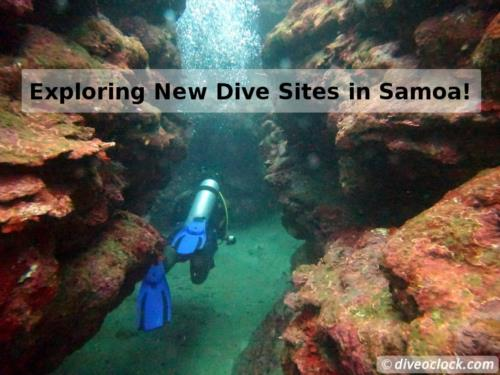 Diving around Apia, Samoa!