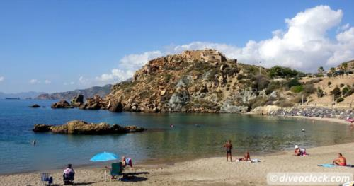 SCUBA Diving at Cala Cortina - Cartagena, Spain!