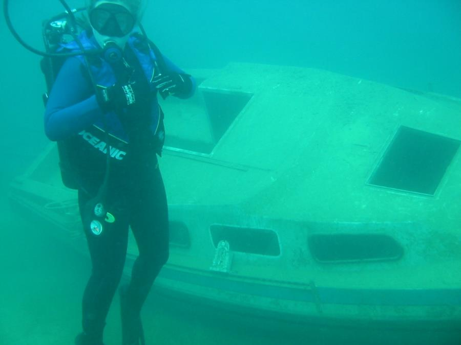 Philadelphia Quarry - Sunk boat