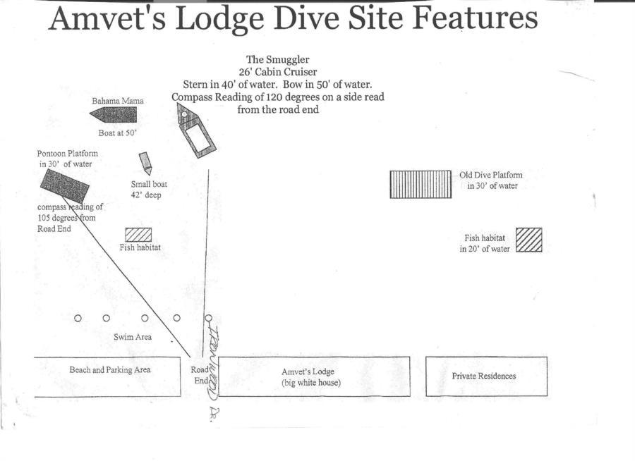 Higgins Lake @ Amvets Lodge - Amvets Lodge dive site