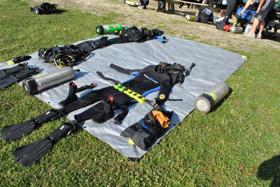 Vortex Springs - Laying out gear.
