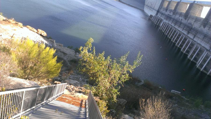 Mansfield Dam Dive Park - Stairs leading no where