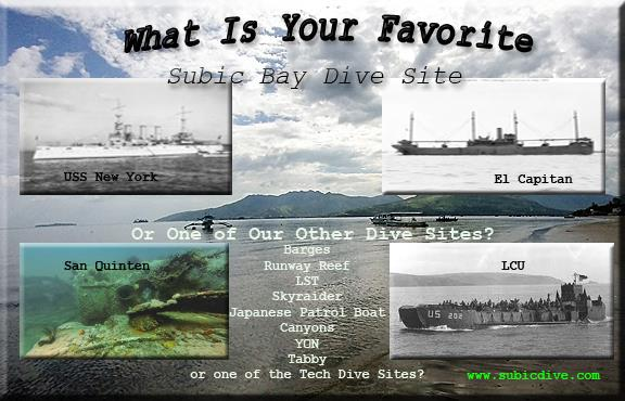 Subic Bay - What is Your Favorite Subic Bay Wreck?