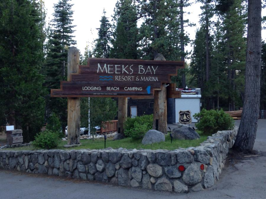 Meeks Bay - Lake Tahoe - Meeks Bay Sign 2014