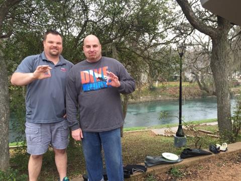 Comal River - Jake and Greg at Comal River