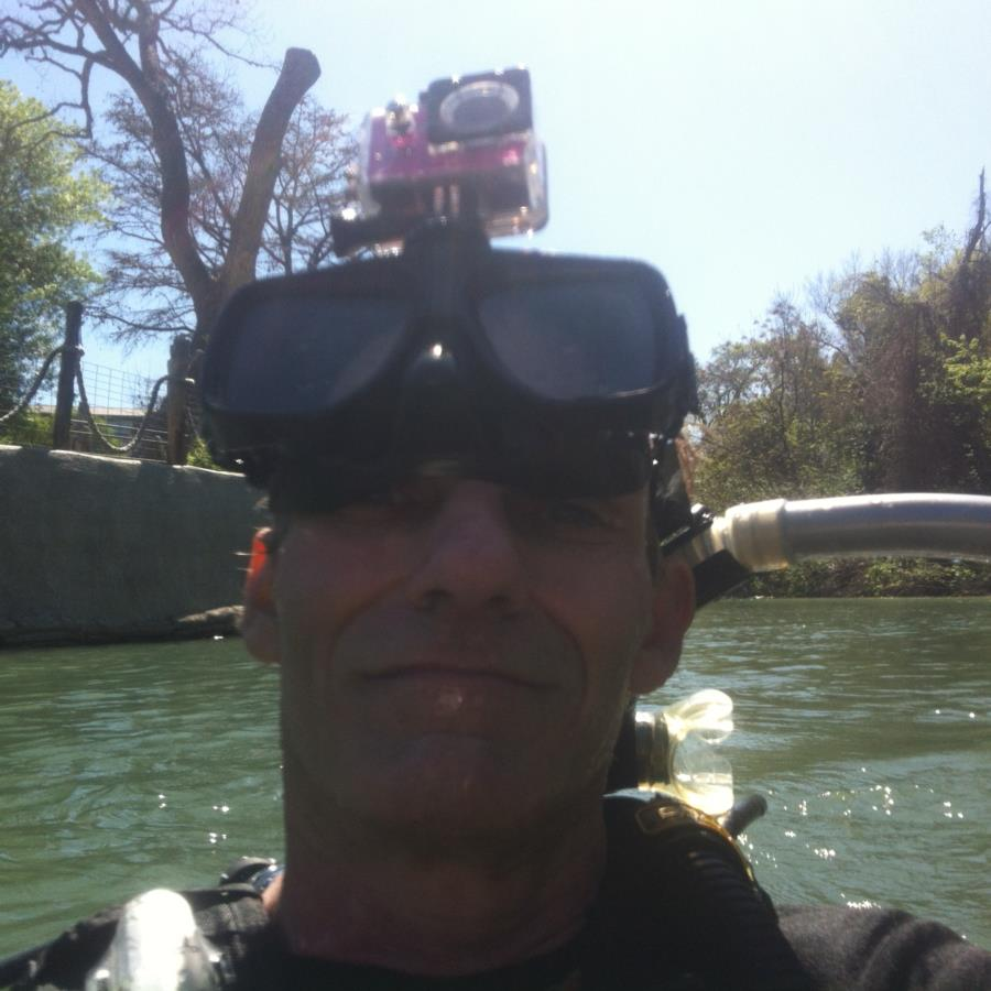 Comal River - Going Down with hands-free cam