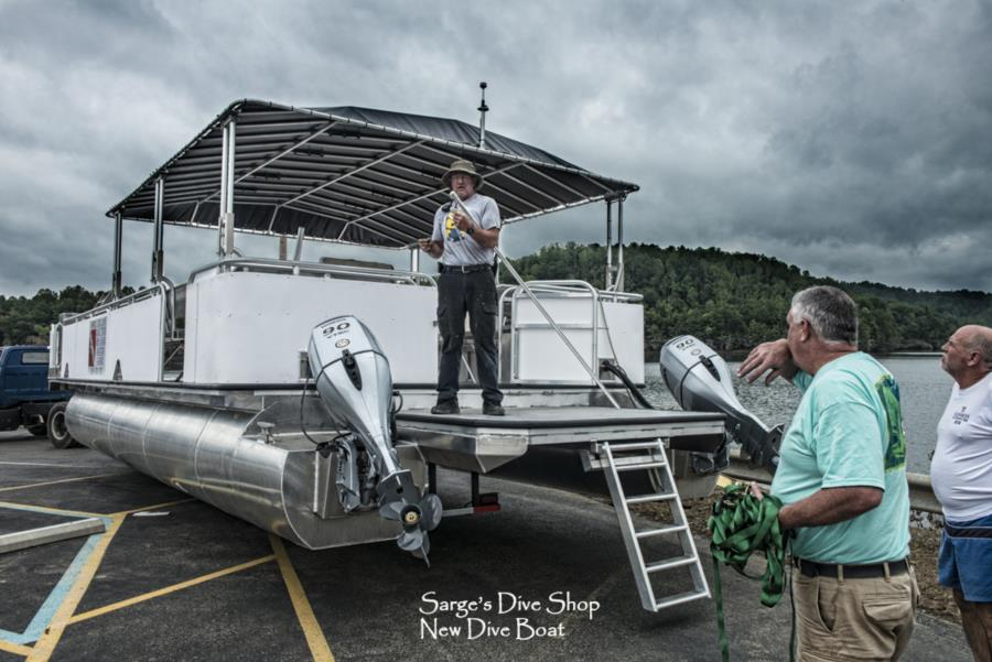 Summersville Lake - New Dive Boat -5