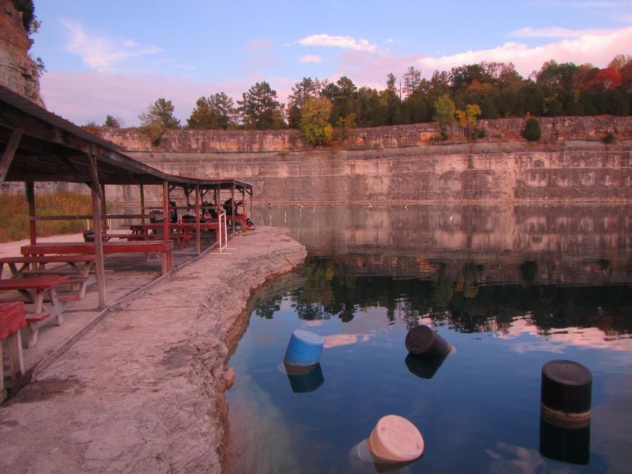 Blue Springs Resort aka Pennyroyal Quarry - Pennyroyal Quarry topside