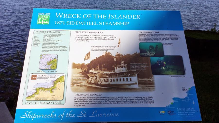 The Islander - Wreck of the Islander Info Plaque