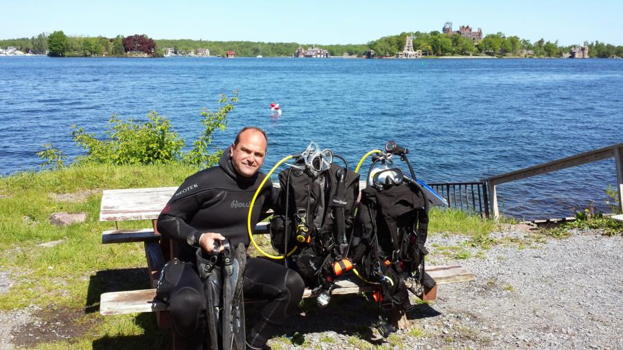 The Islander - Greg ready for PPB dives