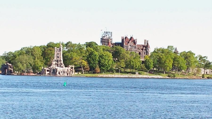 The Islander - View of Boldt Castle from Shore, Alexandria Bay NY
