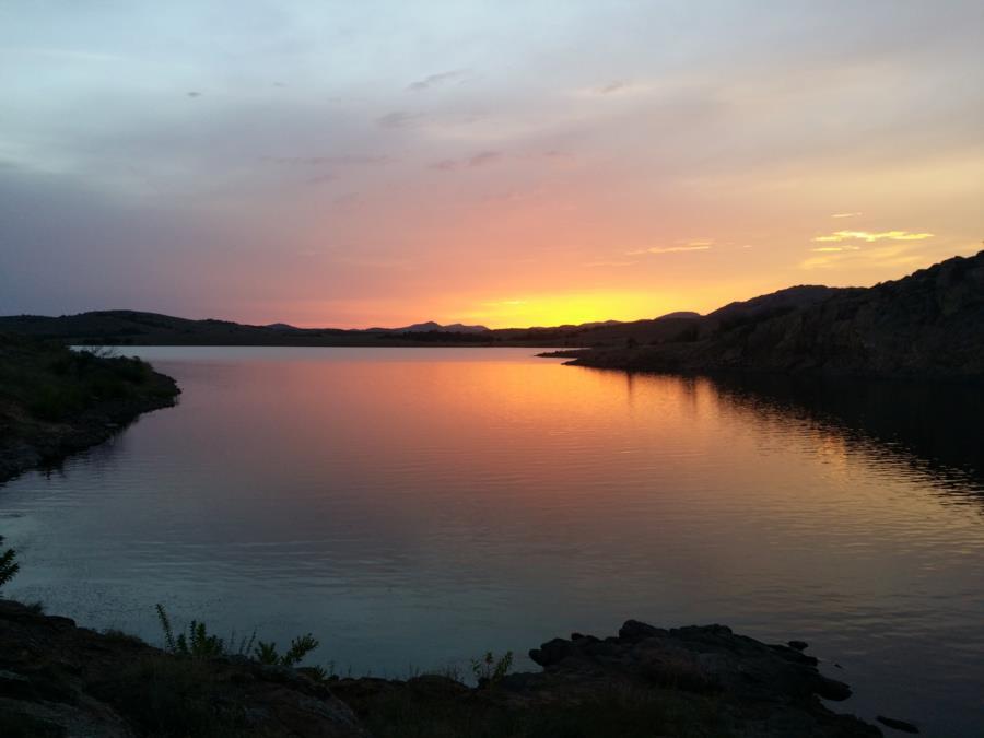 Lake Elmer Thomas Recreation Area - Sunset