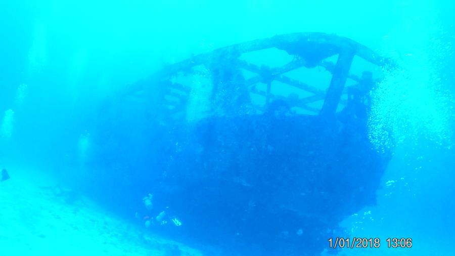 C-53 Wreck, Felipe Xicotencatl - First wreck dive