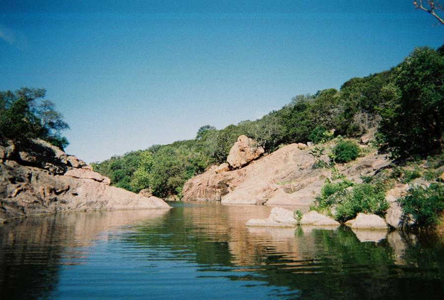 Inks Lake State Park - Above water view of Inks Lake