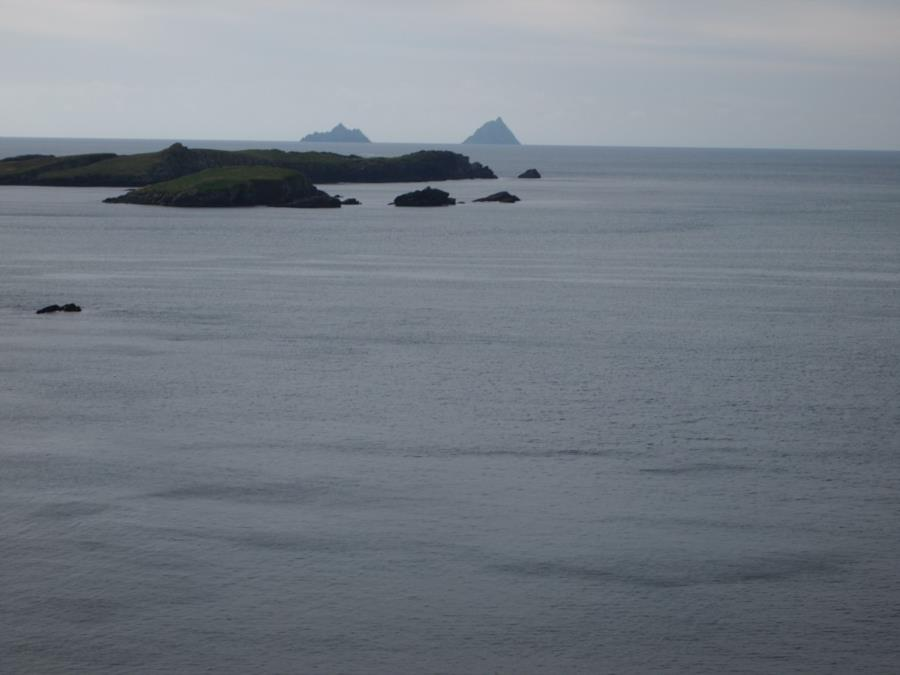 The Skelligs aka Skelligs Rock! - Zoomed in, they are 8 miles out.