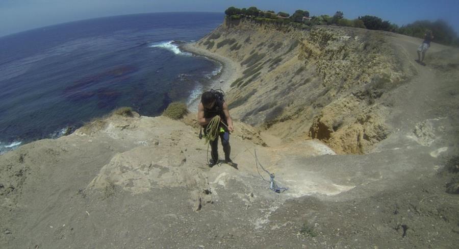 Honeymoon Cove - Climbing up at Honeymoon cove