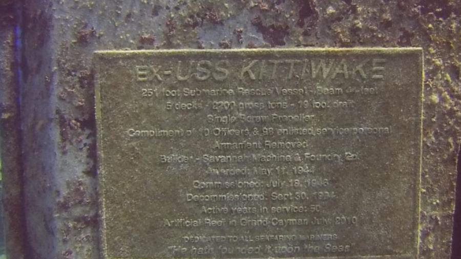 Kittiwake - Plaque on Kittiwake