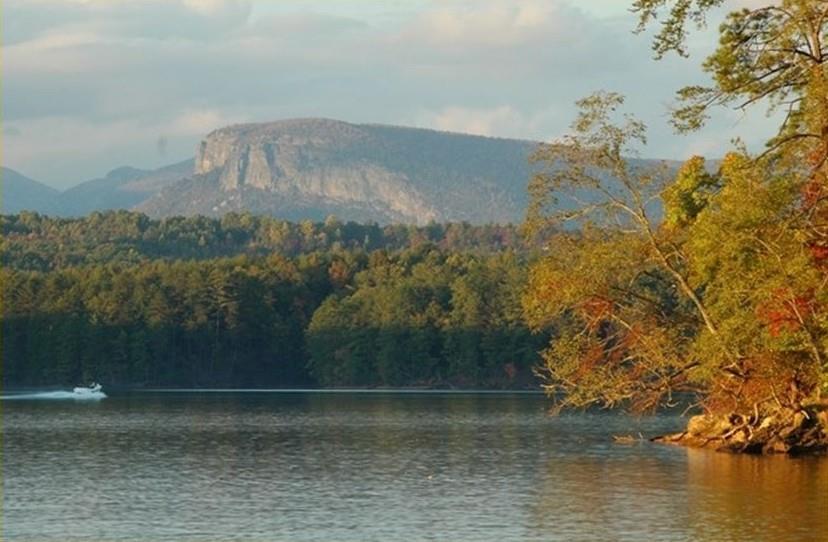 Lake James Rock Formation - Water view of Lake James