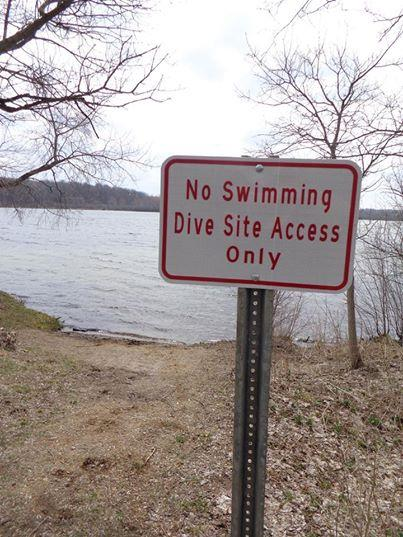 Lime lake - Lime lake diver access