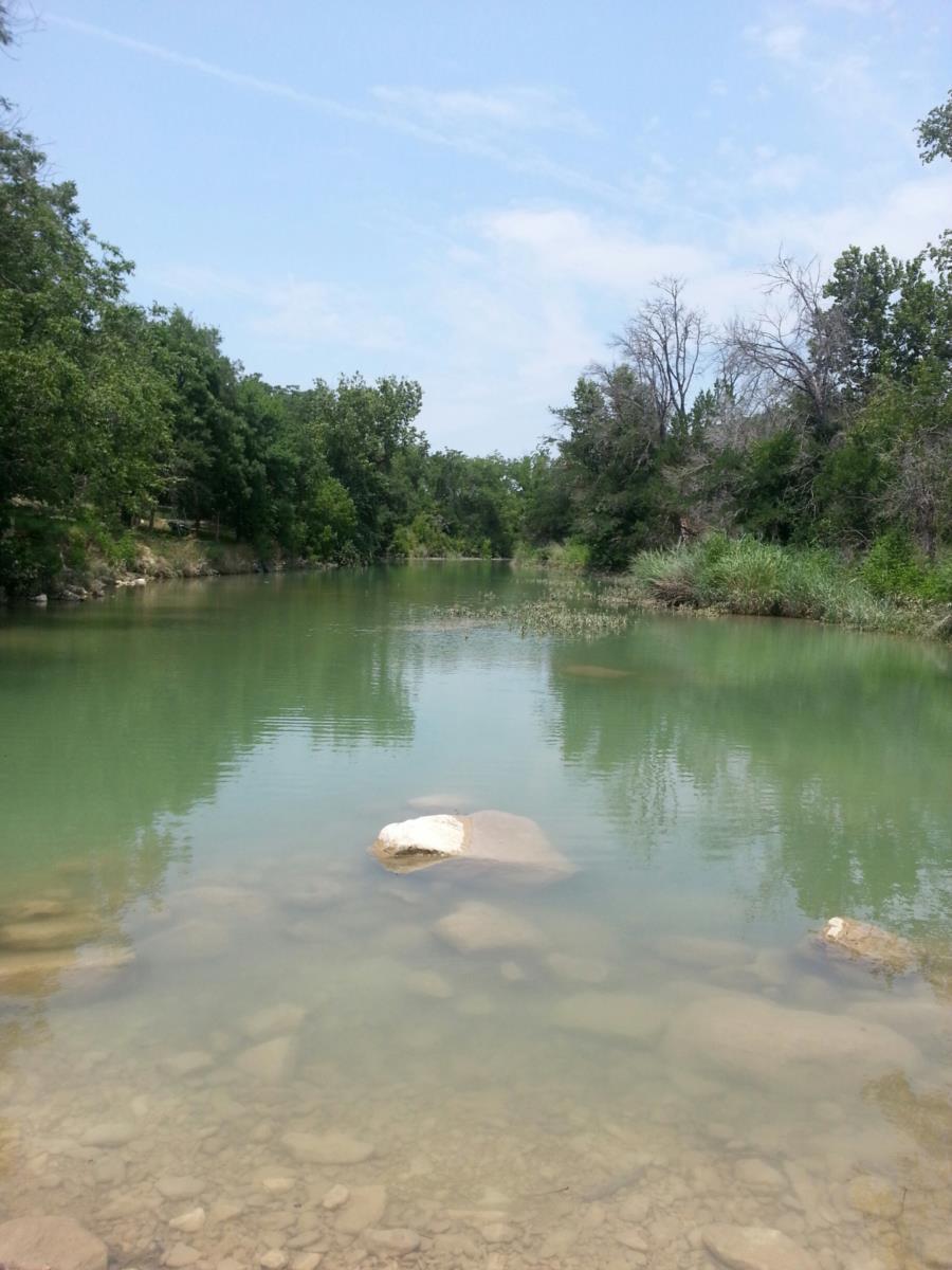 Big Sandy Creek Swimming Hole - North side of bridge - over 5 feet deep
