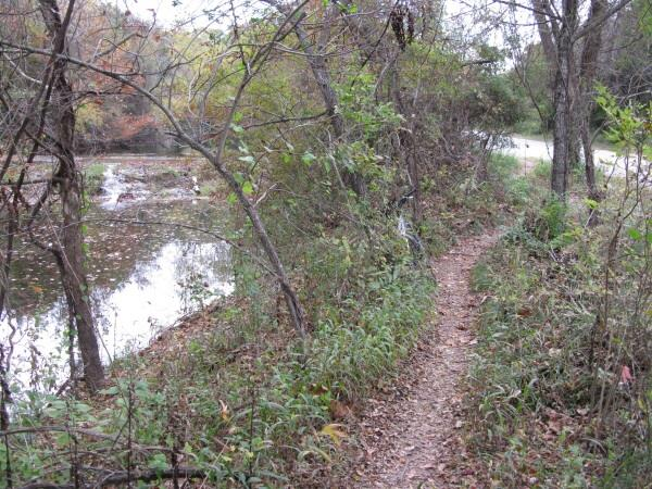 St. Edwards Park - Bull Creek Swimming Hole - Paths along creek in St. Edwards Park
