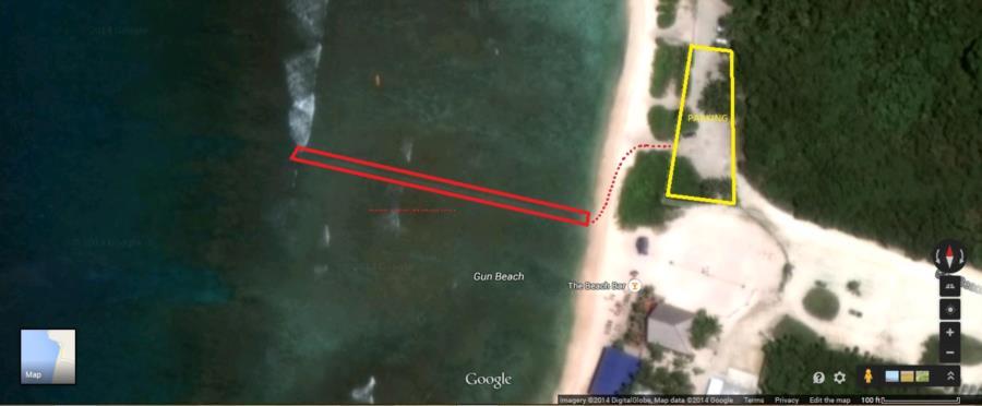Gun Beach - Satellite View