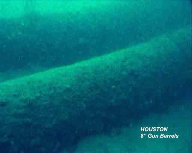 "USS Houston CA-30 ""The Galloping Ghost"" - 8 inch Gun Barrels"
