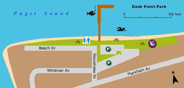 Dash point - Map of Dash Point Park
