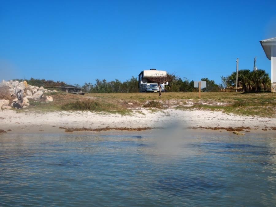 Sebastian Inlet State Park (FL) - View from water, parking and toilet are nearby