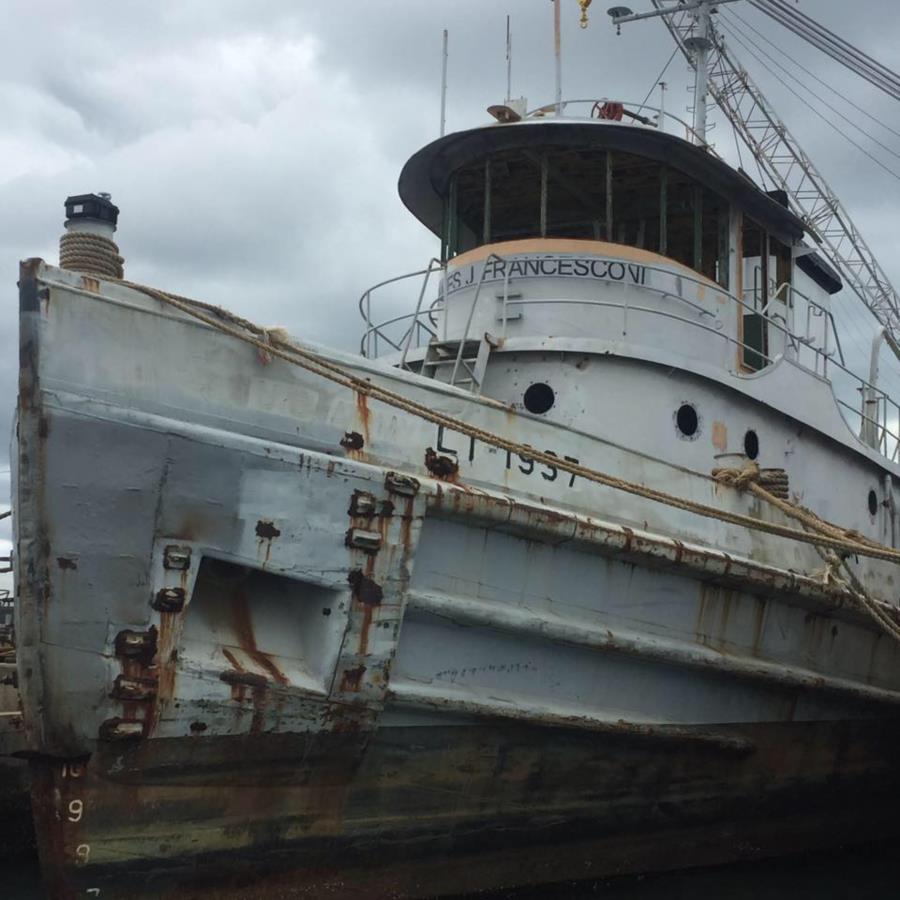 James J Francesconi Artificial Reef - Tug before sinking