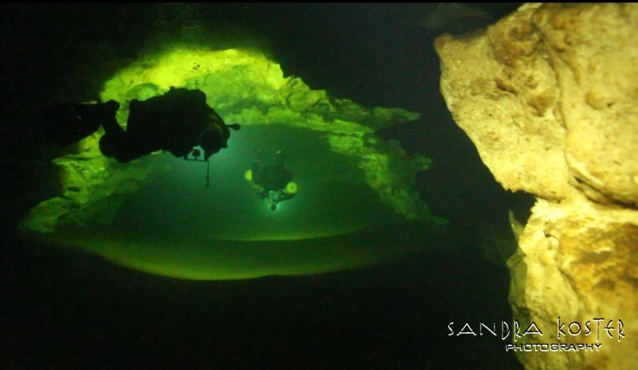 Jess' Hole - Guy & Scotto around the corner cave