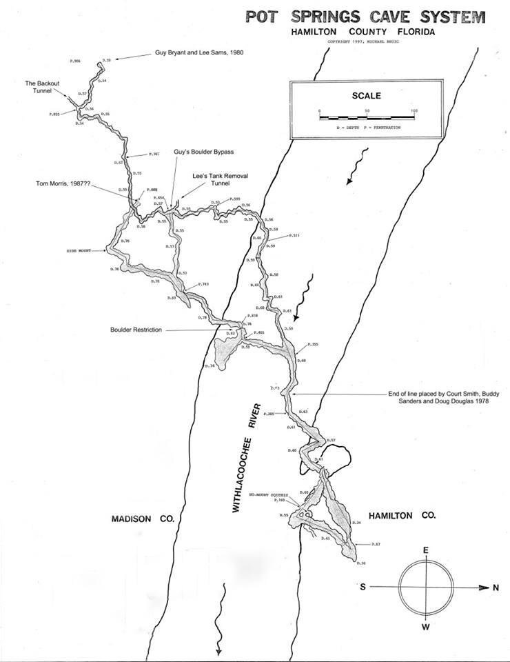 Pot Spring - Pot Spring cave system map
