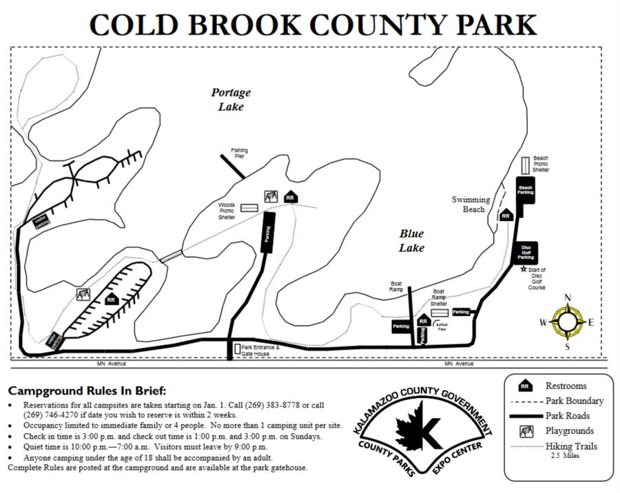 Blue lake, Cold Brook Park - Cold Brook Park