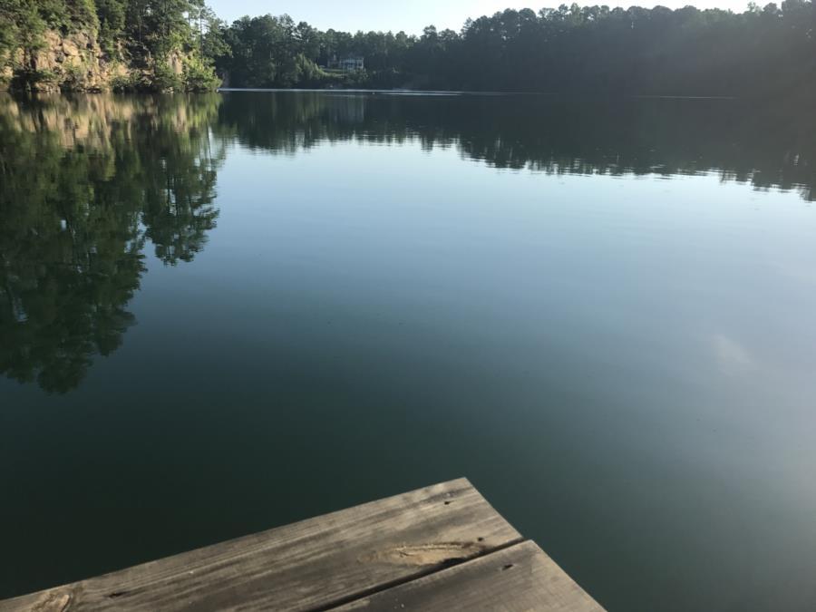 Mystery Lake Scuba Park - Mystery Lake aerial view