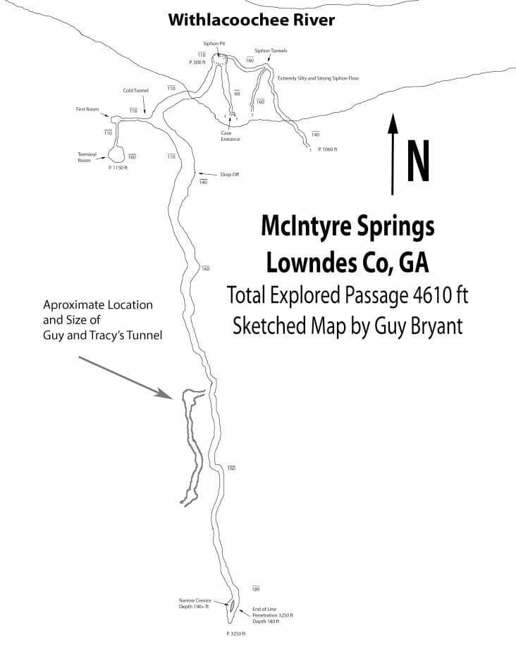McIntyre Spring - McIntyre System map with Guy & Tracy jump