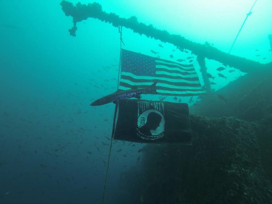USS Oriskany - Flags on the Mighty O