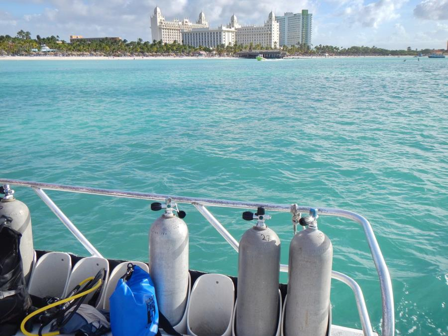 Aruba / Palm Beach view from Red Sail boat