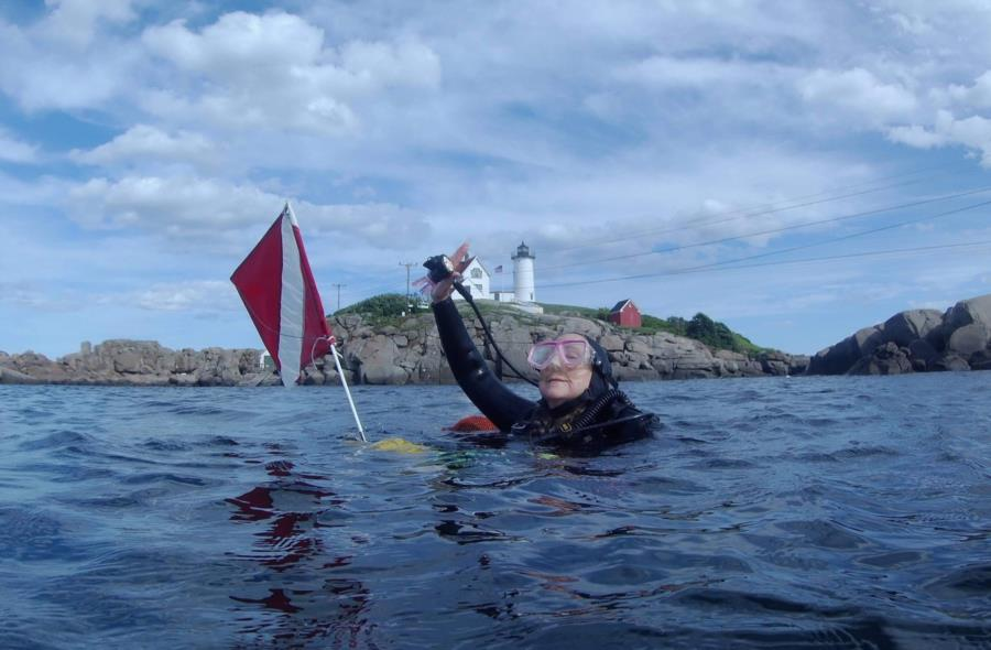 Diving at Nubble Lighthouse