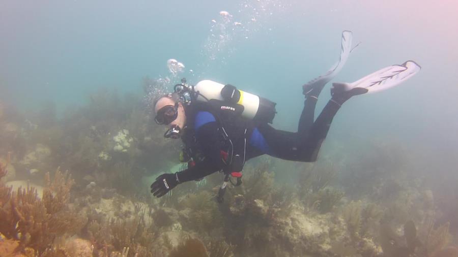 Reef diving in Pennekamp off Key Largo, FL