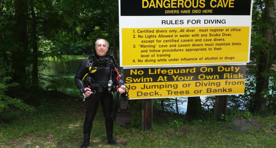 After TDI Cavern certification dives, Ginnie Springs, FL
